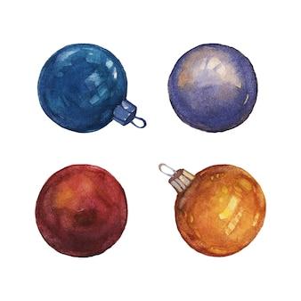 クリスマスの球根の装飾は、ベクトル要素を分離しました
