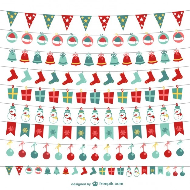 Christmas bunting collection
