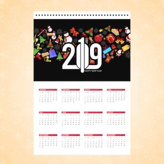 Christmas calendar design card with creative background