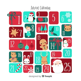 Christmas calendar with lovely style