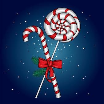 クリスマスのお菓子とお辞儀。