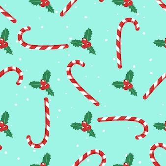 クリスマスのお菓子。シームレスパターン