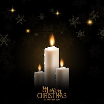 Рождественский свечной фон