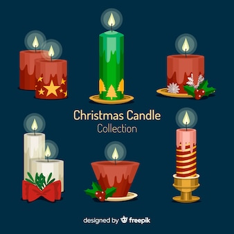 Christmas candle collection