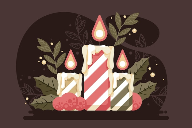 Christmas candle vintage background
