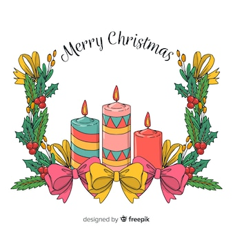 Рождественские свечи фона