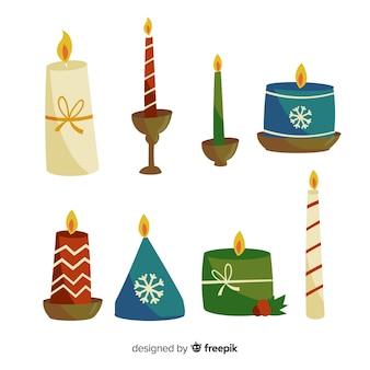 Collezione di candele natalizie