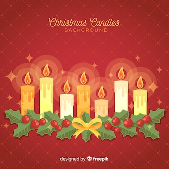 Christmas candles line background