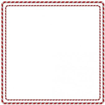 Christmas candy cane frame border