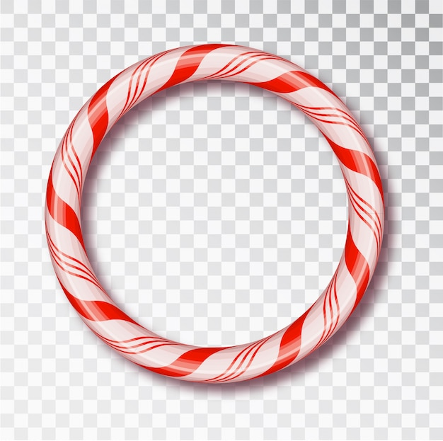 Christmas candy cane frames  isolated. red and white twisted cord frame.