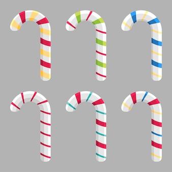 Christmas candy cane stick set