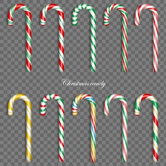 Christmas candy cane. sweet traditional gift. holiday xmax decoration  elements.