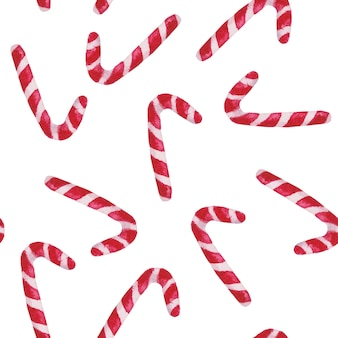 Рождественские леденцы, акварель узор фона