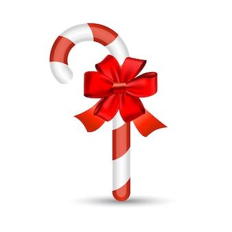 Рождественская конфета с красным бантом