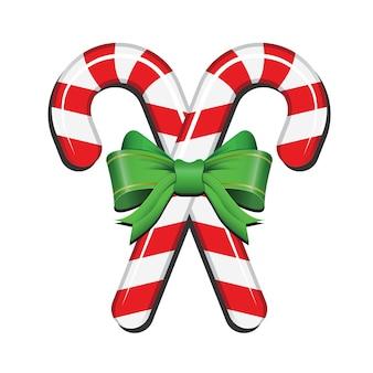 Рождественская конфета с элементом дизайна украшения ленты
