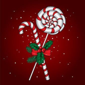 クリスマスのお菓子のイラスト