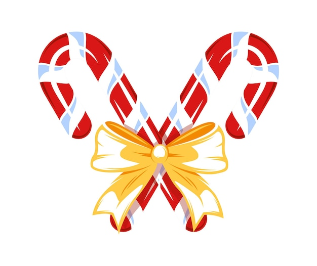 Рождественские конфеты, изолированные на белом фоне