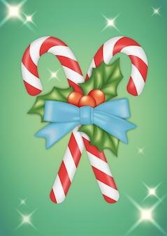 Christmas candycane clipart