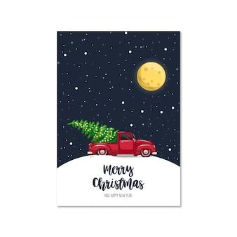 Christmas car card