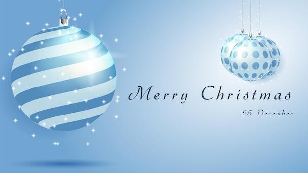 クリスマスカードの背景または水晶玉のバナー