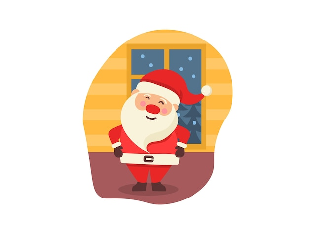 선물 손으로 그린 귀여운 숲 캐릭터와 함께 귀여운 겨울 동물과 크리스마스 카드 배너 프리미엄 벡터