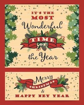Christmas card and banner