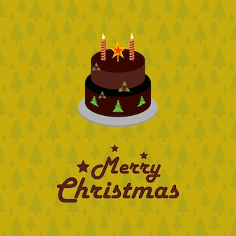 Christmas card birthday cake