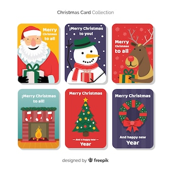 Collezione di cartoline di natale