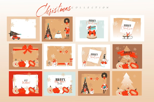 Рождественская открытка композиция