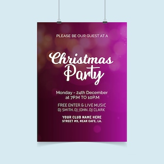 Christmas card design with elegant design and creative background vector