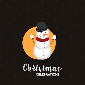 Christmas card design with elegant design and dark background