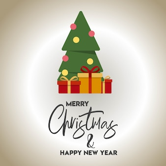 Christmas card design with elegant design vector