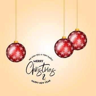 Christmas card design with elegant design