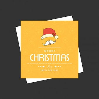 Christmas card design with elegant