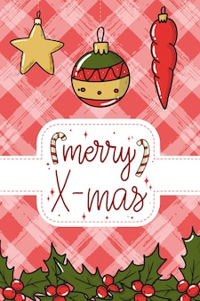 Christmas card poster with lettering quote