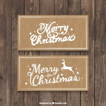 Christmas card on a recycled paper background