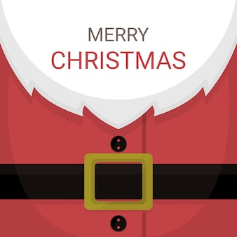 Christmas card of santa claus costume