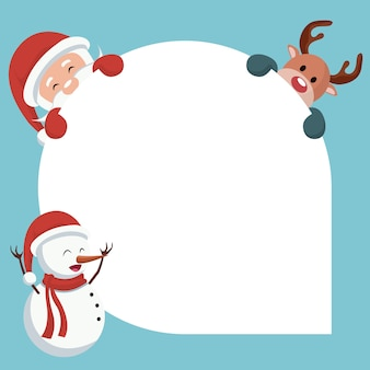 Christmas card of santa claus