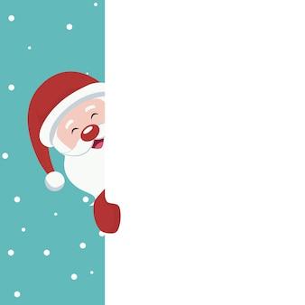 Christmas card of santa claus