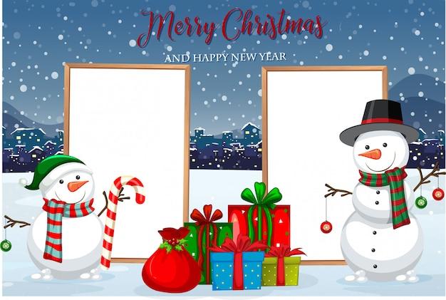 A christmas card template