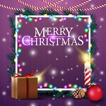 Christmas card template