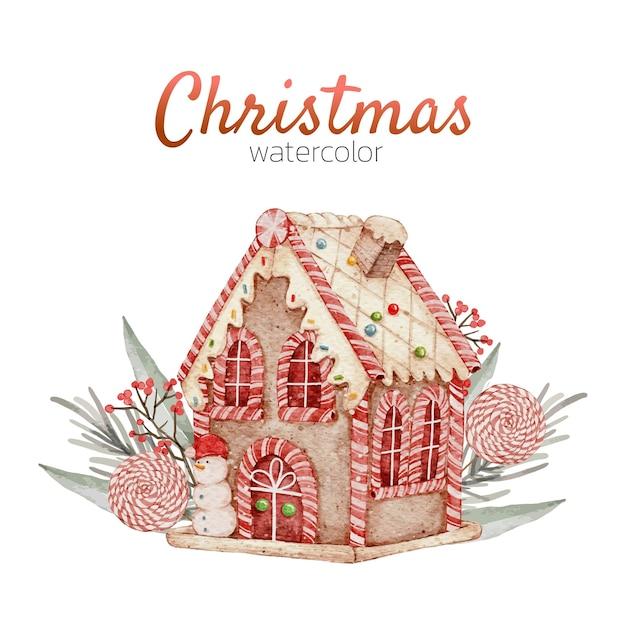 クリスマスカード水彩手描き
