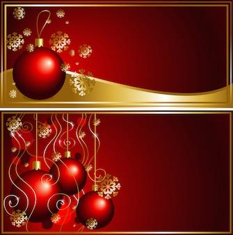 クリスマスボール付きクリスマスカード