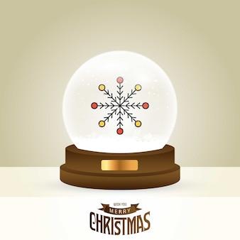 Christmas card with creative elegant design