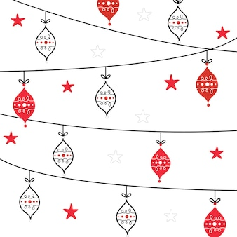 Christmas card with decoration bauble