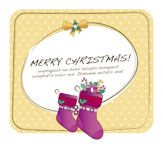 Christmas card with dotted background