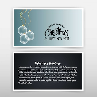 Christmas card with elegant design
