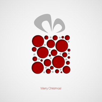 Christmas card with a gift. vector illustration eps 10