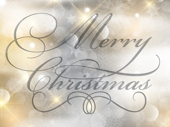 Christmas card with glitter background