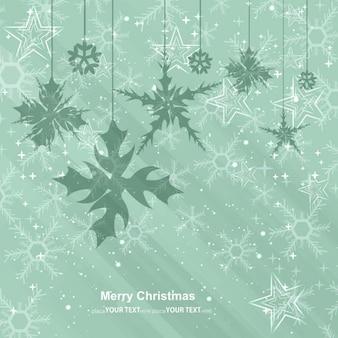 ぶら下げ雪とクリスマスカード